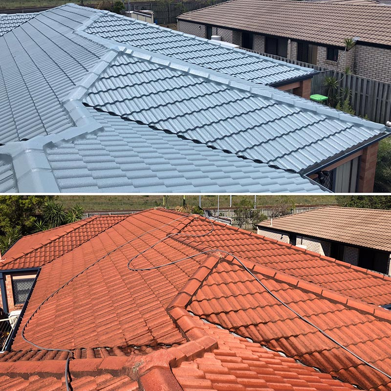 Roof Restorations Before & After Terracotta Roof