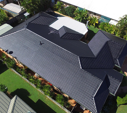 Riight Roofing Restorations Top View Black Roof